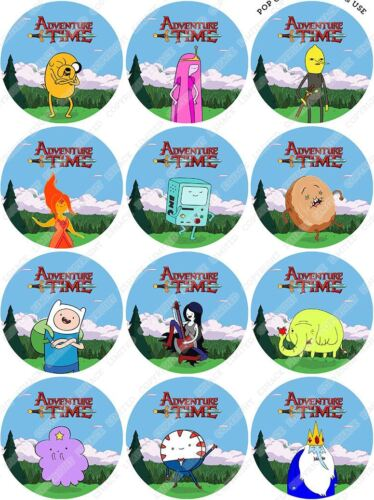 Cakeshop 12 x Pre-Cut Adventure Time comestibles gâteau Toppers