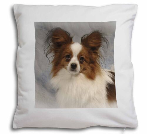 Papillon Dog Soft Velvet Feel Cushion Cover With Inner Pillow AD-PA1-CPW