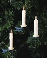 Kurt S. Adler 10-light Clip-on White Candle With Clear Bulbs Christmas Light Set on sale