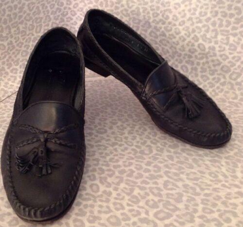 Men's 9 1/2 Bragano Black Shoes