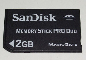Image Is Loading Sandisk 2GB Sony PSP Memory Stick Pro Duo