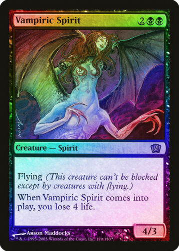 Vampiric Spirit FOIL 8th Edition NM Black Rare MAGIC GATHERING CARD ABUGames