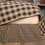 BLACK-CHECK-Queen-Bed-Skirt-Dust-Ruffle-Primitive-Tan-Khaki-Country-Farmhouse thumbnail 1