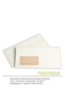 Fenster-Briefumschläge div. Formate weiß haftklebend 500-1.000 Stück