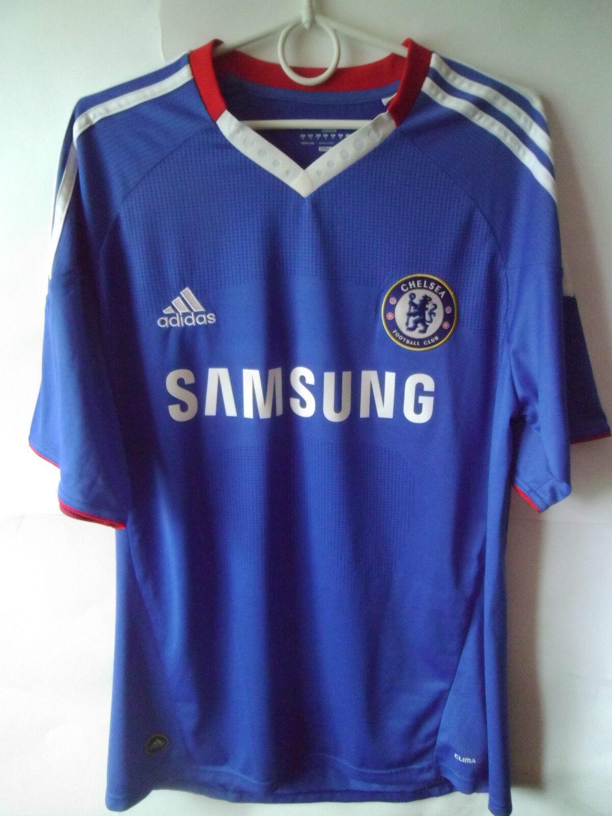 EXCELLENT    2010-11 Chelsea Home Shirt Jersey Trikot M
