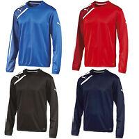 Puma Spirit Mens Training Football Sweatshirt Top Range Red Blue Black Color
