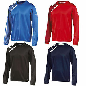 Puma Spirit Mens Training Football Sweatshirt Top Range Red Blue Black