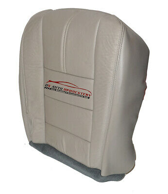 2010 Ford F250 Lariat Driver /& Passenger Bottom Leather Seat Cover Stone Gray 4S