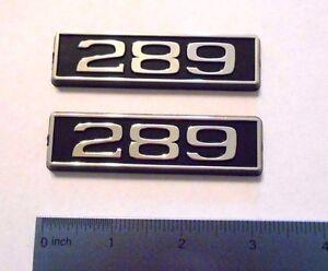 289 black plastic with chrome emblem emblems badge new