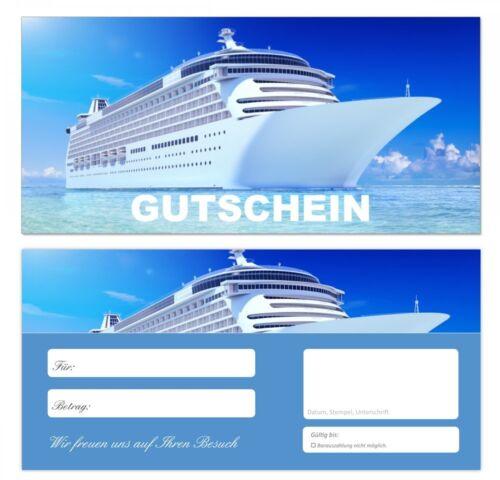 10 x TOP Premium Geschenkgutscheine Reisen Urlaub Gutscheine Kreuzfahrt-676