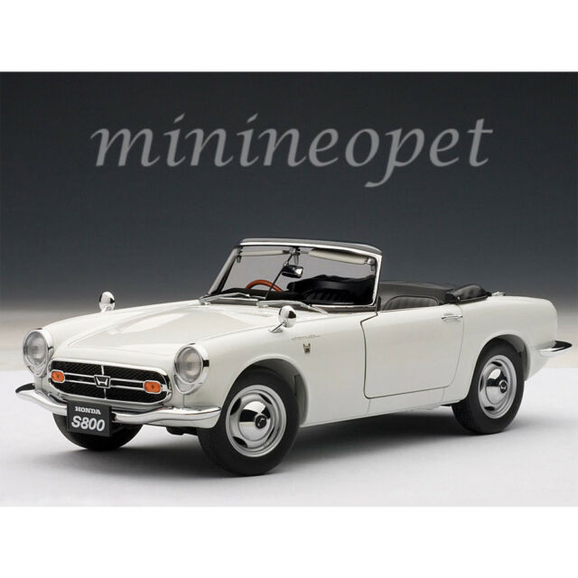 1966 Honda S800 Roadster White 1 18 Diecast Car Model By Autoart