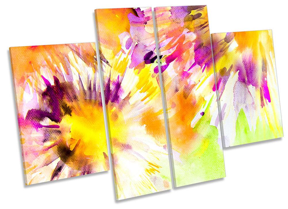 Ilustraciones De Acuarela Flores Floral Lona Pared cuatro Arte panel de cuatro Pared 92eda2
