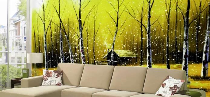 3D Fireflys Tree Hut 7 Wall Paper Murals Wall Print Wall Wallpaper Mural AU Kyra