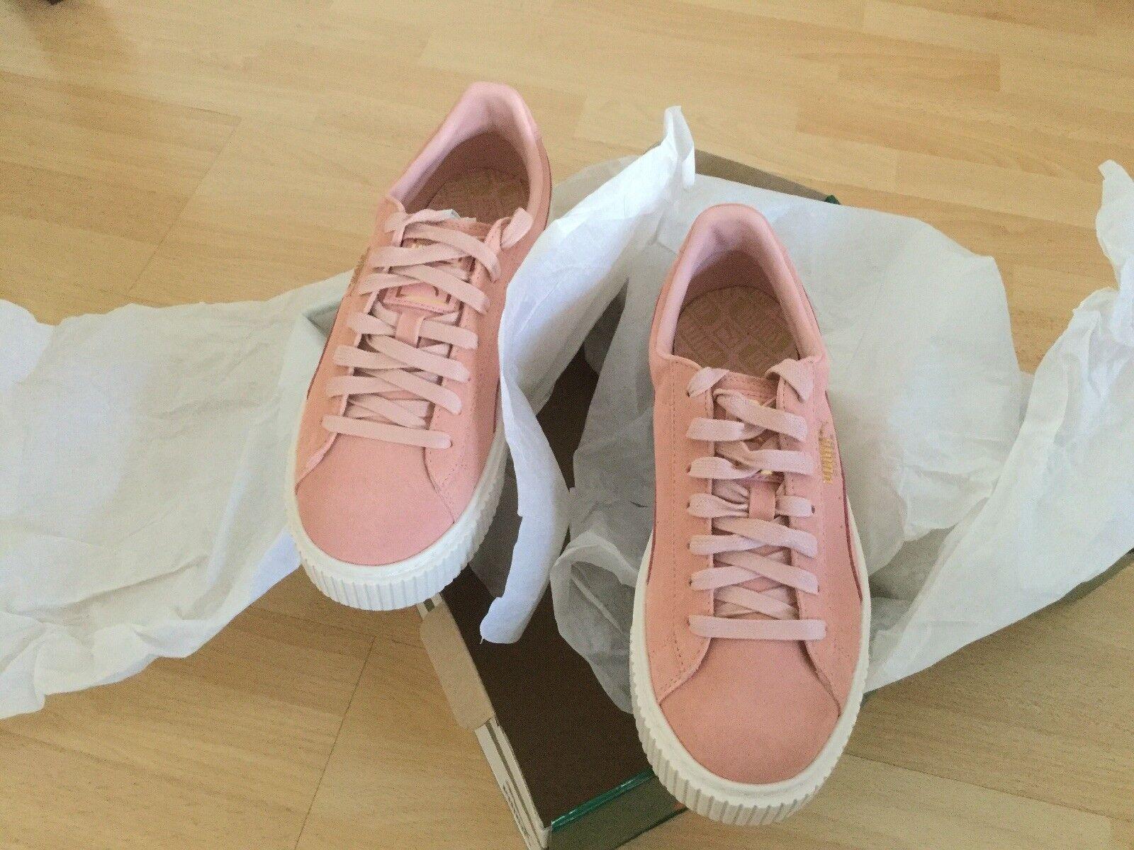 Puma Suede Platform Core (Farbe Damen Sneaker  363559-05 (Farbe Core Coral) 4c3249