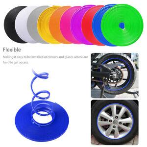 6.5FT//2Meters Gloss Blue Car Wheel Bands Hub Rim Edge Trim Ring Tire Guard Strip
