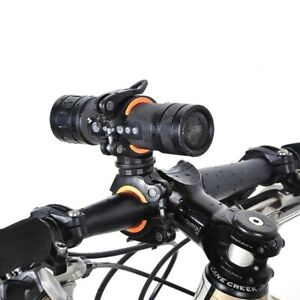 Bicycle Handlebar Light Mount Clip Rotate Support Clamp Bike Flashlight Holder