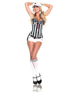 DELUXE-FOOTBALL-REFEREE-BLACK-WHITE-STRIPE-CORSET-COSTUME-HOT-PANTS-SOCCER-S-8