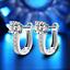 925 Silver Plated Crystal Rhinestone U Shape Ear Stud Clip Earring Women Jewelry