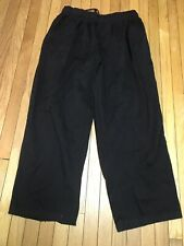 Chef Works 4xl Black Cotton Elastic Waist Drawstring Pockets Pants Euc