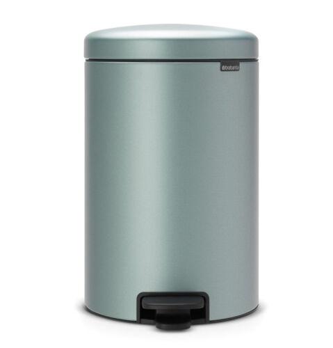 brabantia Treteimer NewIcon 20L Metallic Mint nachhaltiger Mülleimer Soft Close