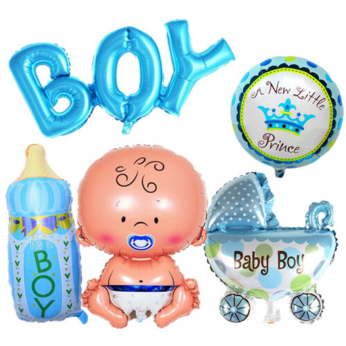 5 Pcs Set Baby Shower Decorations Its A Boy Girl Foil Balloons Birthday Party