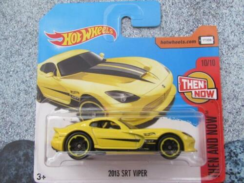 Hot Wheels 2017 #199//365 2013 SRT dodge VIPER yellow HW Then and Now