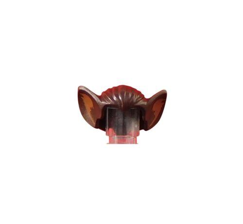 Lego 2 Stück dunkelbraune Haare Batman mit großen Ohren Fledermaus Neu