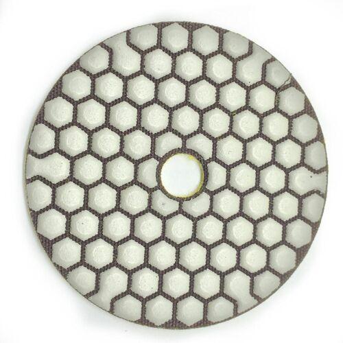 "4/"" DIAMOND POLISHING PAD DRY 17 Pieces Grit 50 Concrete Grinder Polisher Granite"