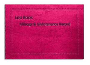 vehicle mileage record log book pink leather effect cover a6 a5