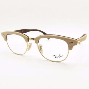d9d8bf057a5c Ray Ban 5154 M Clubmaster Wood 5558 Maple Rubber Brown New Authentic ...