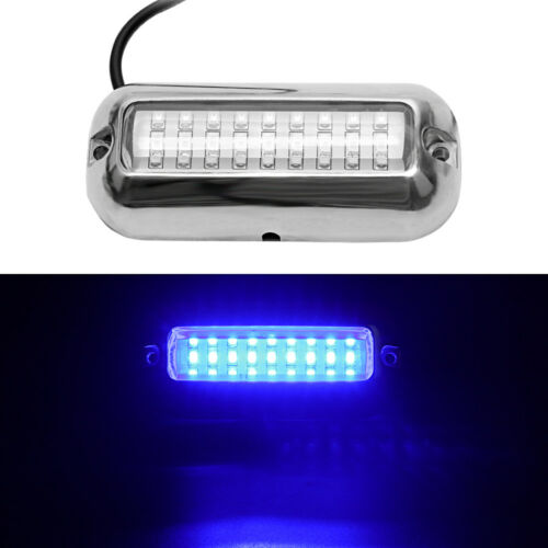 2x 27 LED Marine Boat Transom Stainless Anchor Stern Lights Waterproof Blue IBO