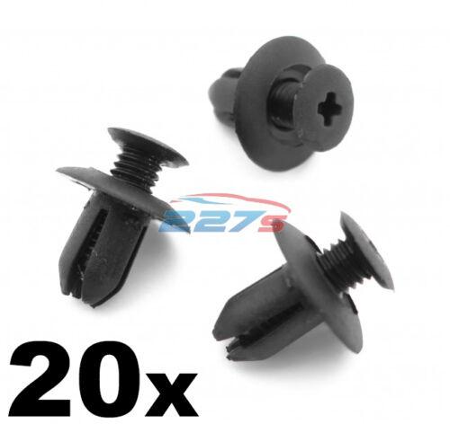 20x 8mm Plastic Trim Clips Same as Mazda B09251833 Wheel arch /& Sill Moulding