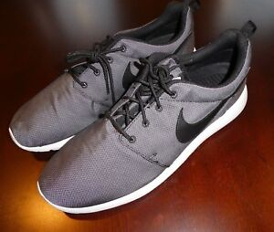 3193dd2c42ca Nike Roshe One Premium Black White Wolf Grey 525234 010 Men s Shoes ...