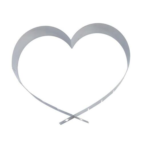 Cutter Ring Adjustable Heart Shape Baking Pan Stainless Mousse Cake Mold T3