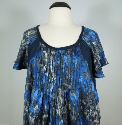 CALVIN KLEIN JEANS Scoop Neck Loose Blouse size L,