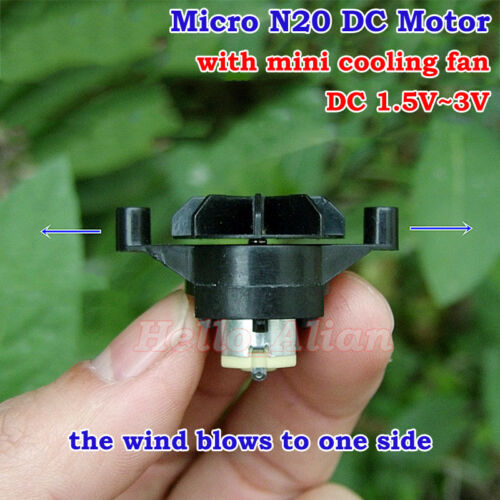 Micro N20 Motor with Small Cooling Fan DC 1.5V-3V DIY Hobby Toy Fan Model