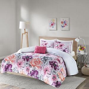 Beautiful modern chic purple pink grey black white flower girls image is loading beautiful modern chic purple pink grey black white mightylinksfo