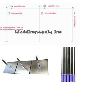 Image Is Loading 3m H X6m W Wedding Backdrop Stand Pipe
