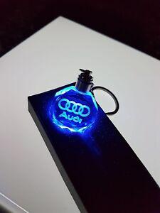 2019-DEL-3D-Audi-Crystal-Keychain-Porte-cles-Porte-Cles-NEUF-avec-Boite-Cadeau-a3-a4