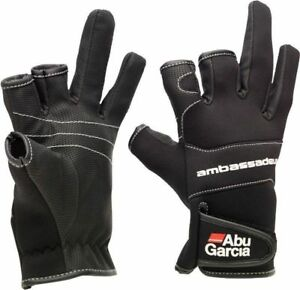 NEW-ABU-GARCIA-STRETCH-NEOPRENE-FISHING-GLOVES-Baiting-Gloves-sea-gear