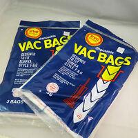 Dvc Brand Vac Bags, For Eureka Style F & - Lot Of 4 Bags - Esp Models