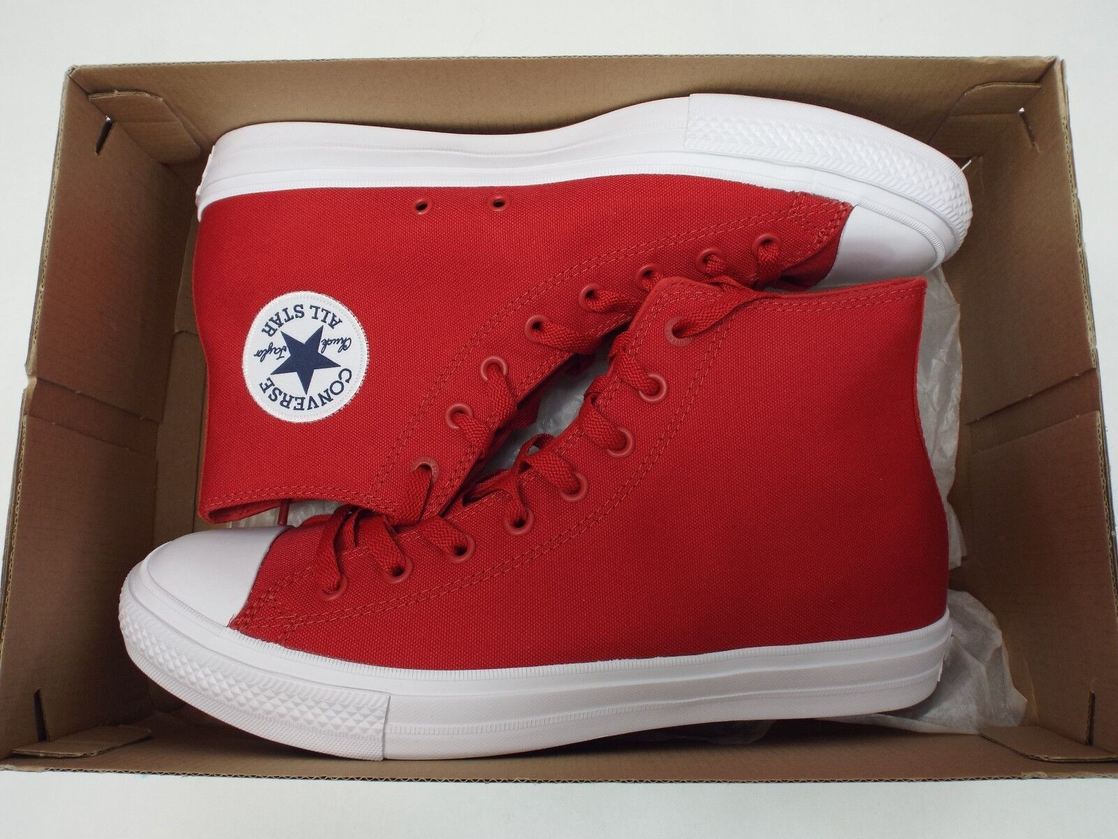 8ada747e425 ... New Mens 12 Converse Converse Converse CT 2 HI Salsa Red Canvas  Basketball Shoes 150145C  75