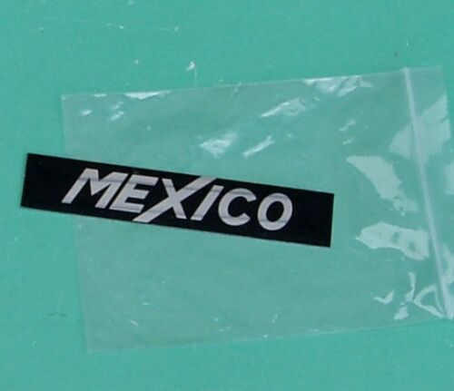 POST FREE UK ! NEW FORD ESCORT MK 1 MEXICO BADGE INSERTS