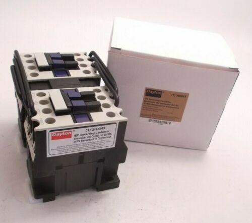 DAYTON 2UXN3 IEC Reversing Contactor 120 VAC Coil 12 FLA Inductive 3 Pole