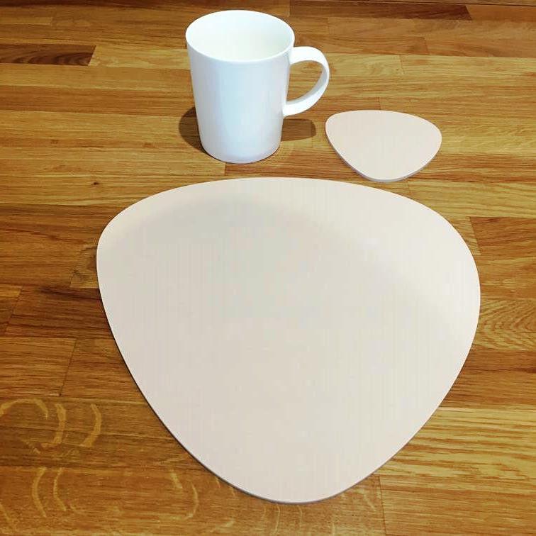 Kieselstein geformt Tischset Tischset Tischset und Untersetzer Set - Latte 5d3b69