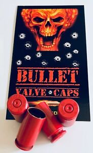 4-Bullet-Valve-Caps-40-Cal-TPMS-Safe-Authentic-Decal