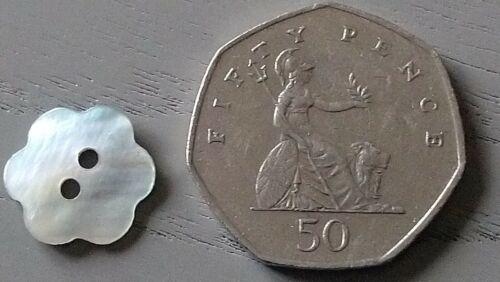 Choix de Tailles De Conditionnement Natural Shell Fleur en Forme de boutons 11 mm et 15 mm