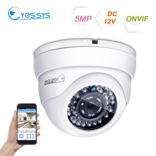 Night Vision 36IR H.265 IP ONVIF HD 2MP//3MP//5MP CCTV POE DOME Camera RTSP NVR CN