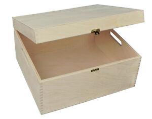 BIG-PLAIN-WOOD-KEEPSAKE-SOUVENIRS-MEMORY-BOX-CRAFT-P375