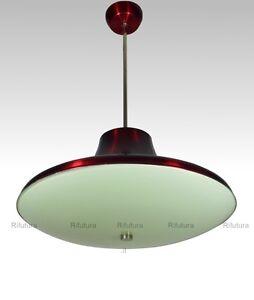 Lampadario Fontana Arte campana disco vintage design alluminio ...